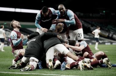 Tottenham abre vantagem, mas West Ham arranca empate nos acréscimos