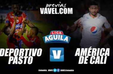 Previa Deportivo Pasto vs América de Cali. Fotomontaje: Vavel Colombia.