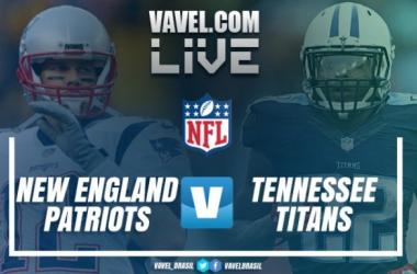 Resultado New England Patriots vs Tennessee Titans pelos playoffs da NFL (35-14)