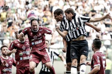 Curiosamente, os quatro gols da partida foram marcados de cabeça (Foto: Atlético-MG/Divulgação)