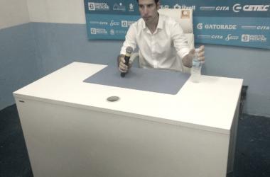 La conferencia de prensa de Gastón Esmerado.