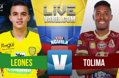 Itagüí Leones vs Deportes Tolima en vivo y en directo online por la Liga Águila 2018-1