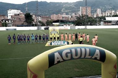 Empate entre Envigado y Deportivo Pasto por Copa Águila. Foto: Pablo Hoyos.