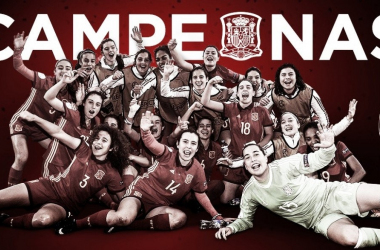 Campeonas de Europa | Foto de la Selección Española