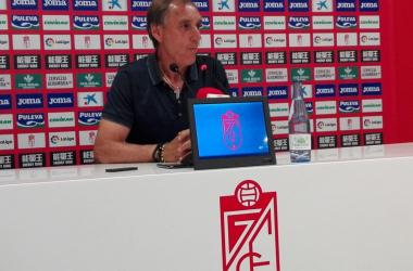 Miguel Ángel Portugal durante la rueda de prensa | Foto: María José Ramírez