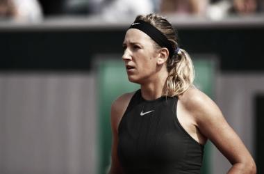 La tenista bielorrusa se despide de Roland Garros (zimbio.com)