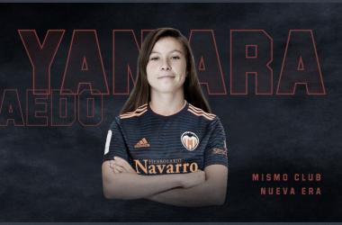 Yanara posando la nueva camiseta del Valencia CF| Foto: @VCF_Femenino