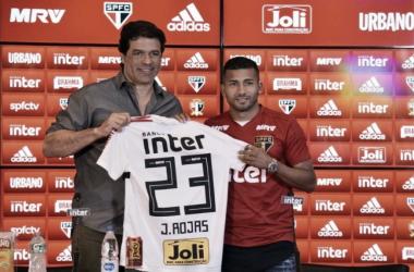 Joao Rojas é apresentado no São Paulo (Fonte: Divulgação/São Paulo FC)