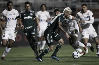 Clássico entre Santos e Palmeiras foi o primeiro jogo pós Copa (Foto: Cesar Greco/SE Palmeiras)
