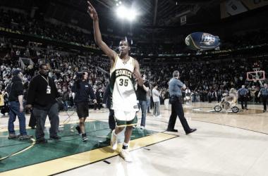 KD en el último partido del Key Arena | Foto: NBA.com