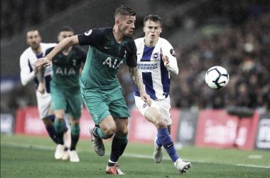 Tottenham sofre susto no final, mas garante vitória contra Brighton