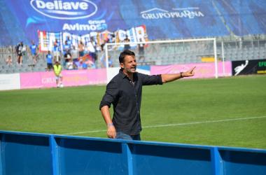 Mere Hermoso durante el partido contra el Coruxo / Foto: Diego López