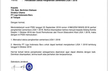 PSSI Cabut Penghentian Liga 1, Kembali Bergulir