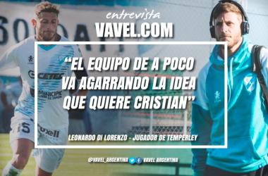 Leonardo Di Lorenzo dialogó en exclusiva con Temperley VAVEL. Foto: VAVEL