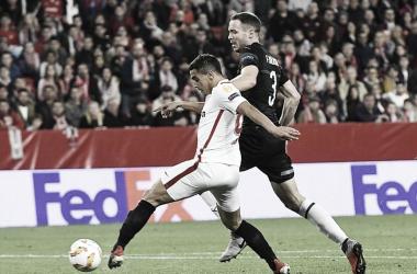 Ben Yedder anotando el 2-0   Foto: Sevilla FC