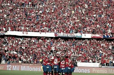 Imagen de la final, partido de vuelta, del torneo finalización 2018 ante Junior de Barranquilla
