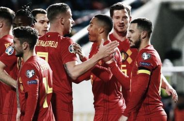 Com a vitória, a Bélgica continua 100% das Eliminatórias(Foto: UEFA)