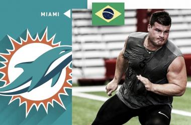 Brasileiro é selecionado pelo Miami Dolphins e pode jogar na NFL