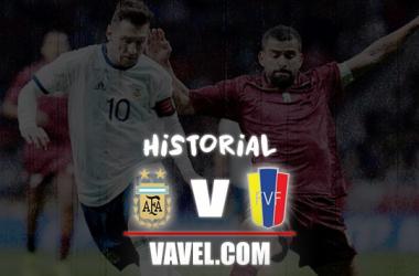 Historial Argentina vs Venezuela. Fotomontaje: VAVEL Colombia.