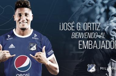 Guillermo Ortiz es nuevo delantero de Millonarios
