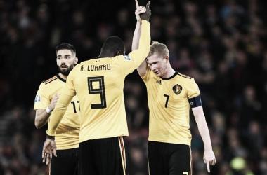 Com show de De Bruyne, Bélgica goleia Escócia e segue invicta nas Eliminatórias da Euro