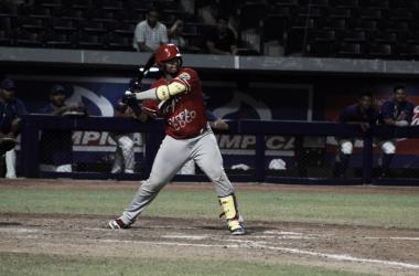 Acción del juego de ayer entre Tigres y Caimanes Foto: Tigres de Cartagena Prensa