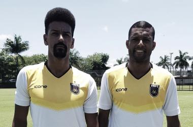 William Mineiro e Maicon Silva foram apresentados nesta sexta-feira (Foto: Divulgação/Volta Redonda)