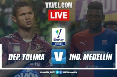 Resumen Tolima vs Independiente Medellín EN VIVO online AHORA (2-2)