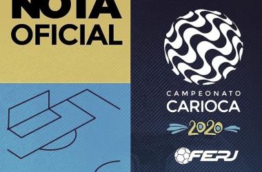 Em reunião com clubes, Ferj determina suspensão do Campeonato Carioca