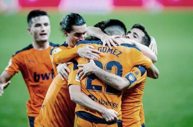 Maxi Gómez:«Estamos muy felices por el grandísimo trabajo de hoy»