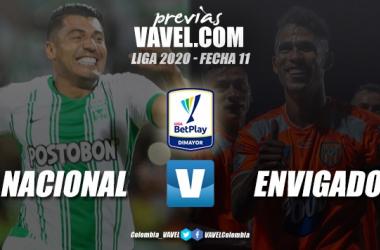 Previa Atlético Nacional vs Envigado FC: duelo en la parte media por un cupo en los ocho