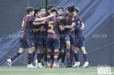 El FCB Juvenil A coge aire con una goleada a costa del RCD Mallorca