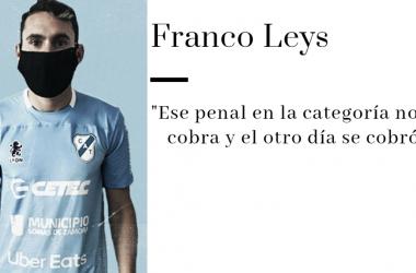 """ENTREVISTA. Franco Leys: """"Va a ser un partido muy duro, pero hay que ganar como sea"""""""