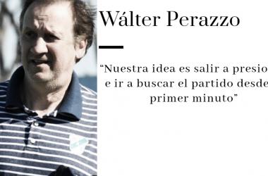 """Entrevista.Walter Perazzo: """"Contra Morón va a ser un partido de trámite rápido en el mediocampo con equipos que intentaran convertir para poder ganar"""""""