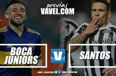Boca y Santos se enfrentarán por quinta vez en su historia en esta competición.