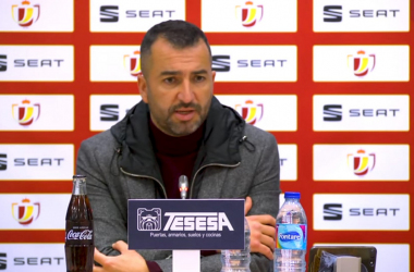 Diego Martínez durante la rueda de prensa. Foto: Granada CF