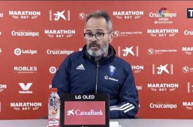Álvaro Cervera en rueda de prensa<div>Foto: Cádiz CF</div>