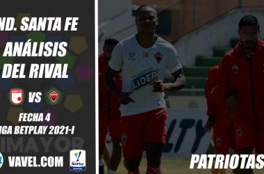Independiente Santa Fe, análisis del rival: Patriotas Boyacá (Fecha 4, Liga BetPlay 2021-I)