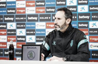 """Vicente Moreno:""""Tenemos un partido para disfrutarlo y ganarlo"""""""