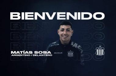 La bienvenida para Matías Sosa desde Talleres (Foto: Prensa Talleres)