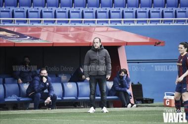 Lluís Cortés ante el equipo danés. Foto: Noelia Déniz, VAVEL