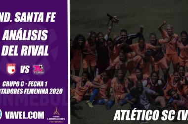 Independiente Santa Fe, análisis del rival: Atlético SC (Fecha 1, Libertadores Femenina 2020)