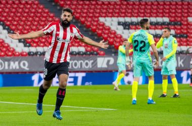 Villalibre celebra su gol al Granada CF | Foto: Athletic Club