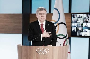 Presidente del COI, Thomas Bach. (Foto: Via Twitter)