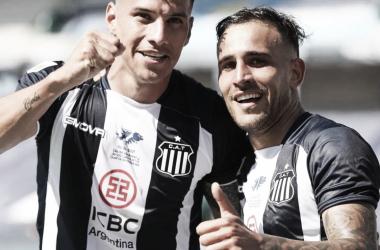 Los goleadores del primer tiempo. Foto: Instagram oficial Club Atlético talleres