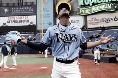 Luis Patiño debutó este domingo con su nuevo equipo, Rays de Tampa Foto: Rays Baseball