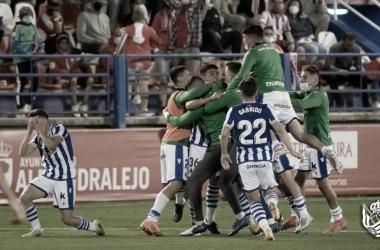 Los jugadores del Sanse celebrando el ascenso a Segunda División / Foto: Real Sociedad