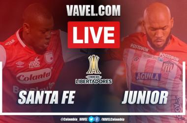 Resumen Santa Fe vs Junior (0-0) en la fecha 6 del Grupo D por Copa Libertadores 2021