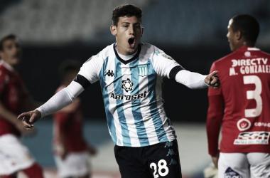 Tomás Chancalay, el goleador de la noche.