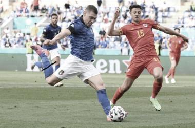 Imagen de Belotti durante el partido. Imagen sacad del Instagram de azzurri.